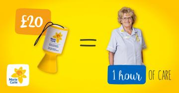 £20 = 1 hour of care, Great Daffodil Appeal 2016