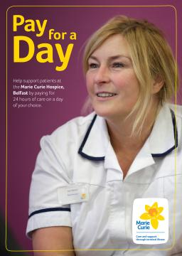 Belfast hospice cover, Pay for a Day