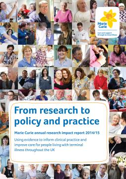 Cover, Research impact report 2014-15