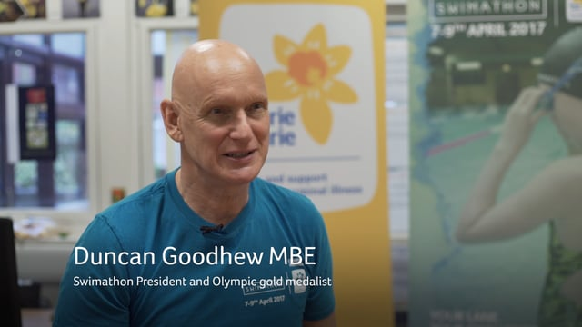 Duncan Goodhew on why companies should get involved, Swimathon