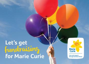 Folder front, Fundraising for Marie Curie