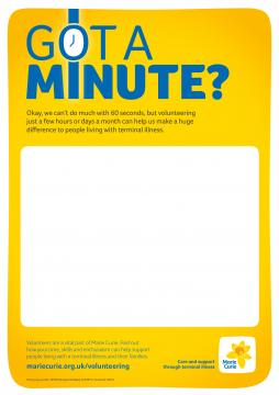 Got a minute?, Volunteer recruitment campaign