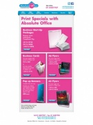 Print Specials with Absolute Office, Email Newsletter