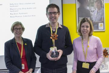 Receiving the award, Marie Curie People Award
