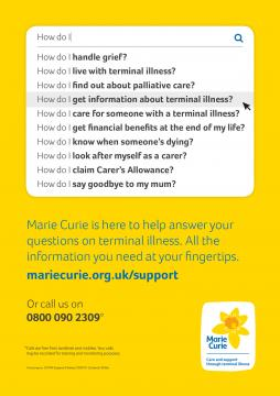 Superdrug poster, Information and Support