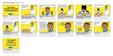 """Superheroes"" storyboard"