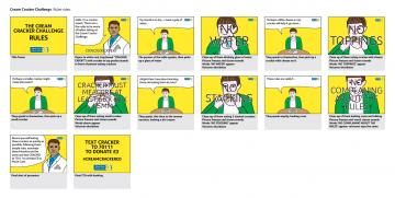 The Rules storyboard, The Marie Curie Cream Cracker Challenge