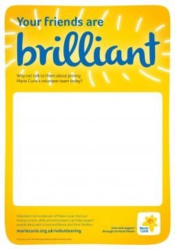 Your friends are brilliant, Volunteer recruitment campaign